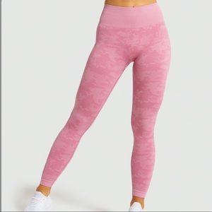 NWT Gymshark Pink Camo Adapt Seamless Leggings